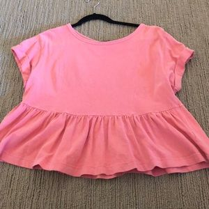 Pink Urban Outfitters Peplum Top